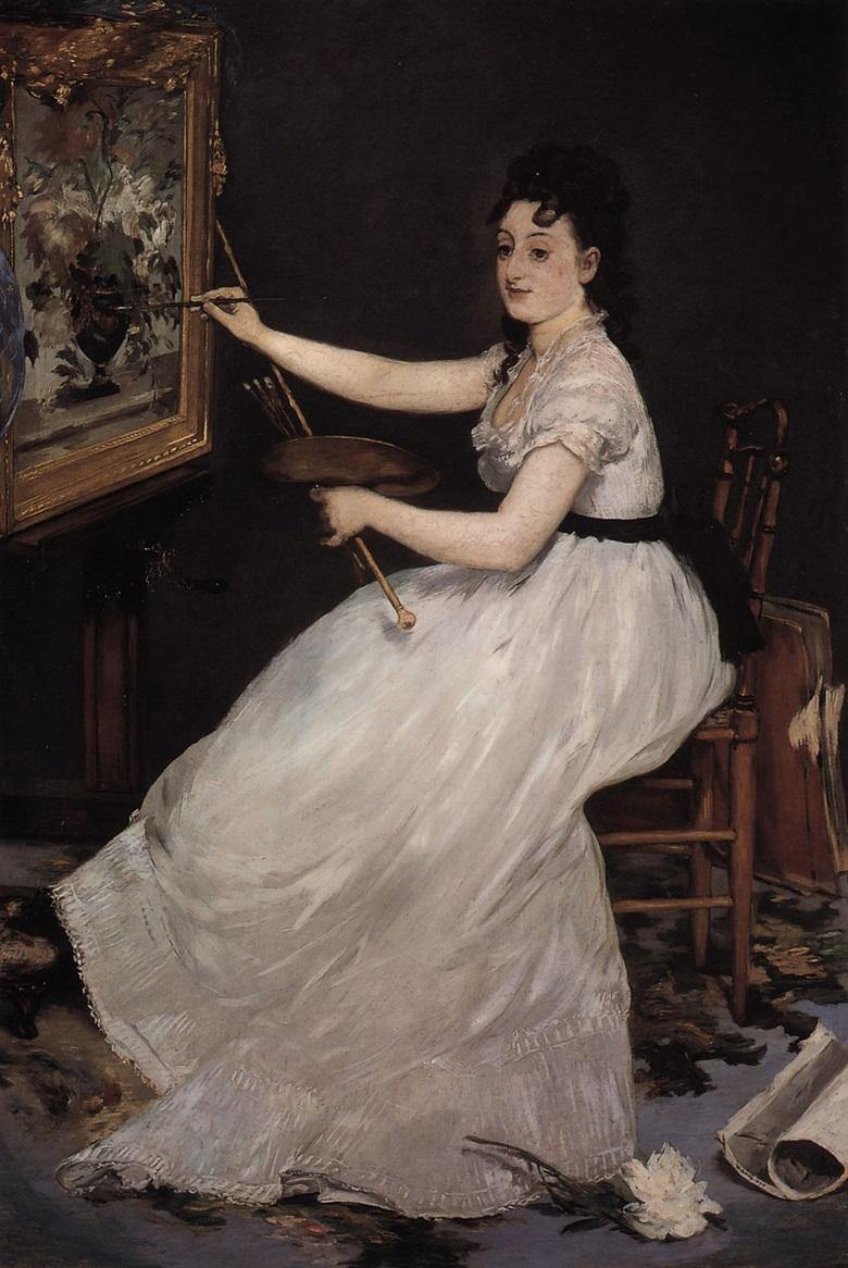 Edouard Manet, Portrait d'Eva Gonzalès, 1870. National Gallery of Art, London.