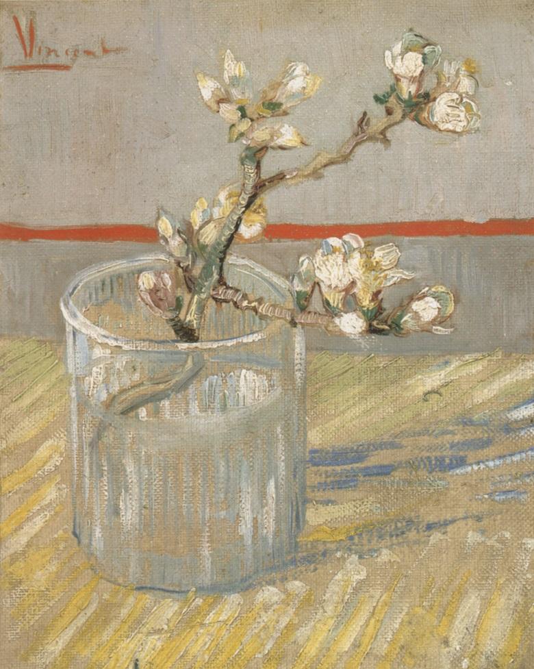 Vincent Van Gogh, Nature morte, branche d'amandier, 1888. Van Gogh Museum, Amsterdam.
