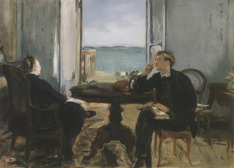 Edouard Manet, Intérieur à Arcachon, 1871. Sterling and Francine Clark Art Institute, Williamstown, Massachusetts.