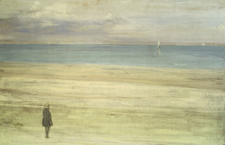 James McNeill Whistler, Harmony in Blue and Silver Trouville, 1865. Isabella Stewart Gardner Museum, Boston.