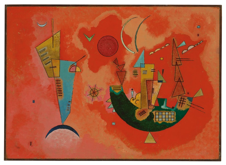 Wassily Kandinsky (1866–1944), Mit und Gegen (For and Against), 1929. Oil on board. 13 ¾ x 19 ⅛ in. (35 x 48.6 cm.) Estimate £2,000,000–3,000,000. This work is offered in the Impressionist & Modern Art Evening Sale on 22 June at Christie's in London