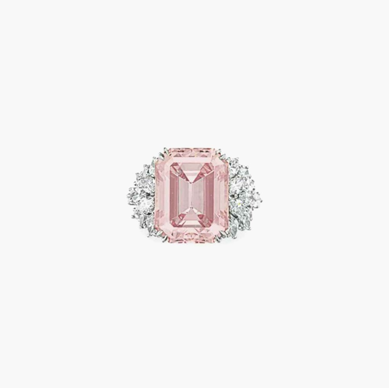 An exceptional coloured diamond and diamond ring, by Harry Winston. Estimate $3,500,000–4,500,000. This piece is offered in the Magnificent Jewels auction on 7 December at Christie's New York