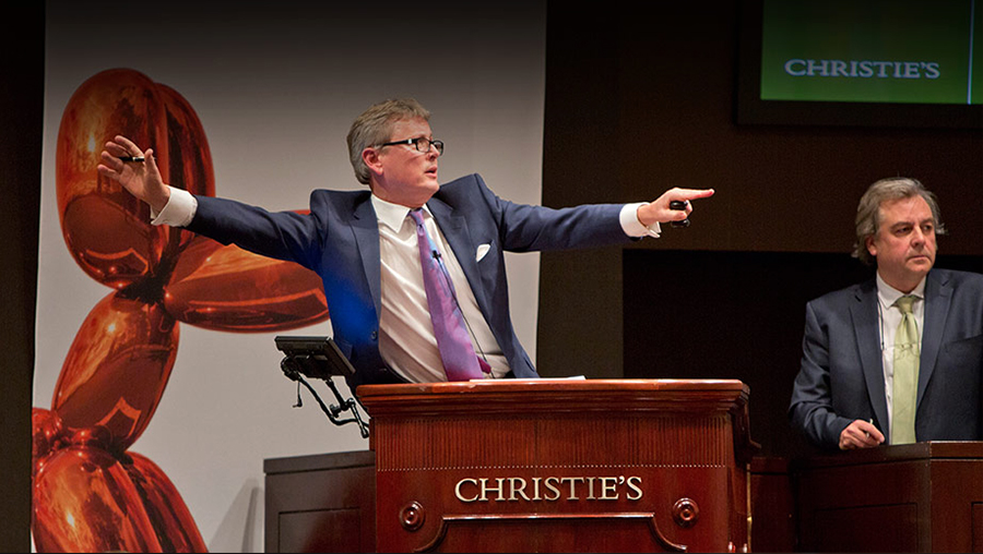 Christie's LIVE online auction bidding
