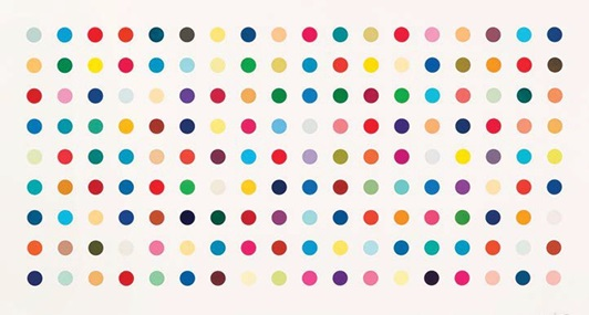 Damien Hirst: 3,575 ½ Spots and Three Mickeys
