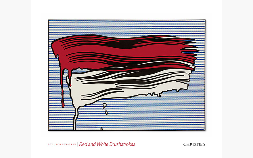 Special Publication: Roy Lichtenstein's Red and White Brushstrokes