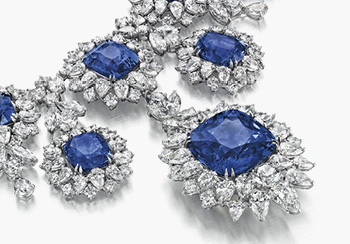 Christie's Magnificent Jewels - A set of sapphire and diamond jewellery
