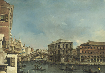 Christie's Old Masters Evening Sale - Francesco Guardi (1712–1793) The Rialto Bridge with the Palazzo dei Camerlenghi
