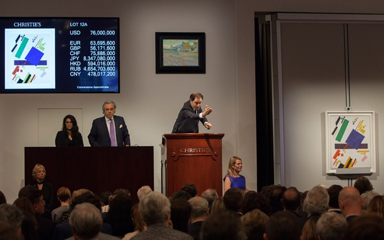 $86 million Malevich leads the auction at Christies