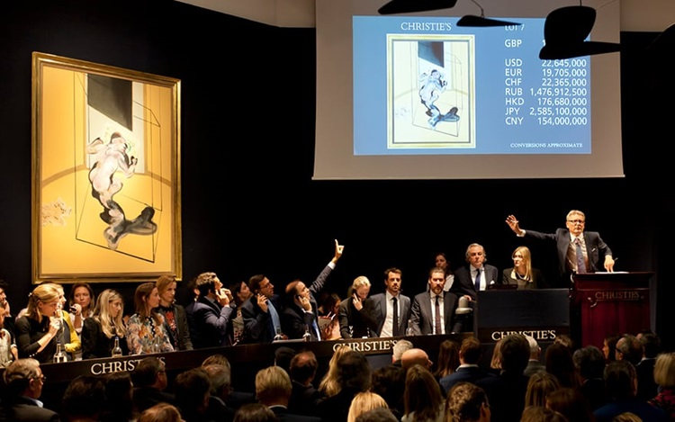 £19.9 million Bacon leads the  auction at Christies