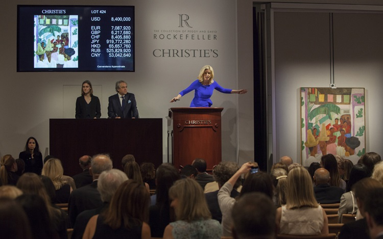 De Kooning, Gilbert Stuart and auction at Christies