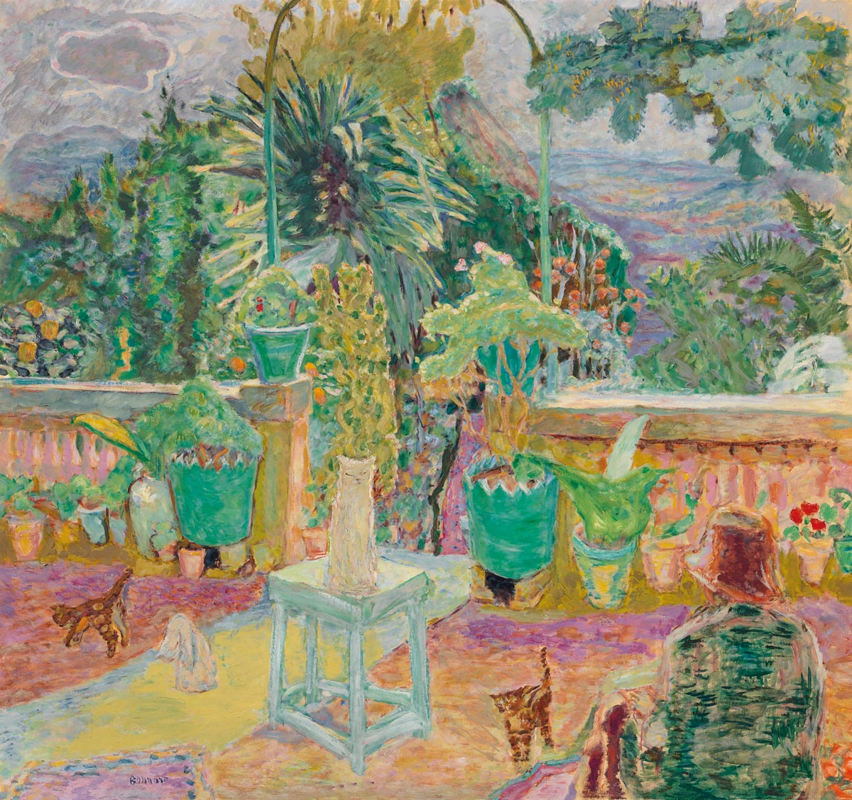 Pierre Bonnard (1867-1947), La Terrasse ou  Une terrasse à Grasse, 1912. Oil on canvas. 49 ¼ x 52 ⅞ in. (125.3 x 134.4 cm.). Estimate $5,000,000-8,000,000. This work is offered in the Impressionist & Modern Art Evening Sale on 13 May at Christie's in New York. The Collection of Drue Heinz