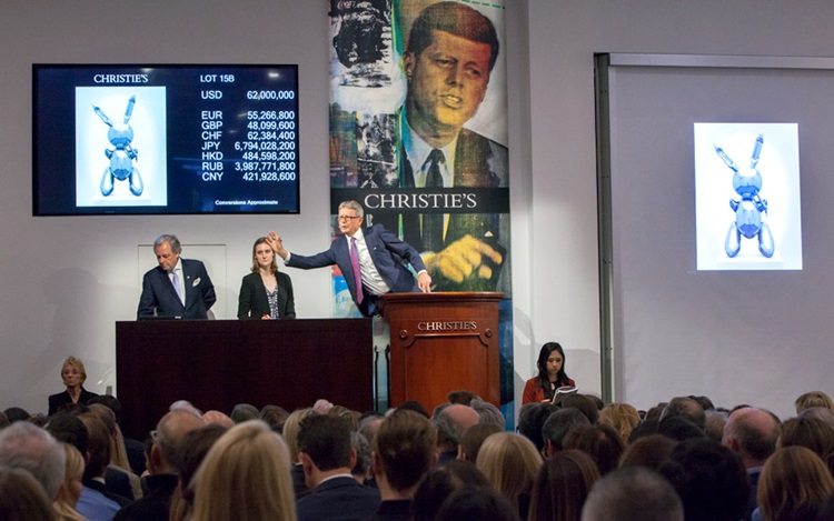 Jeff Koons's record-breaking R auction at Christies