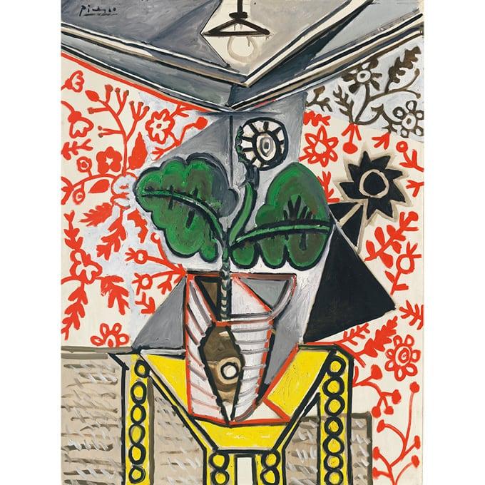 Image result for Picasso Intérieur au pot de fleurs (1953, estimate: £7,000,000-10,000,000)