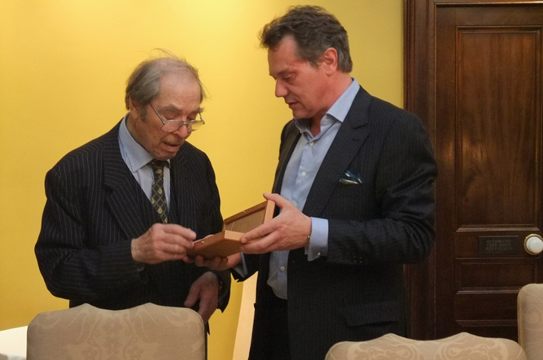 F.P. Journe with George Daniels in 2010. Photo © F. P. Journe