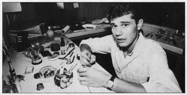 A young François-Paul Journe at his workbench in 1987, Paris. Photo © F. P. Journe