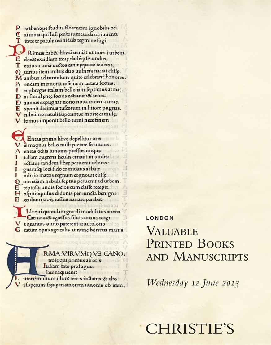 Valuable Printed Books and Manuscripts