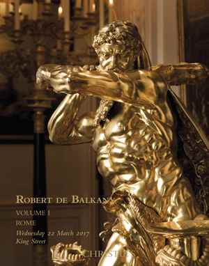 Robert de Balkany Rome & the C auction at Christies