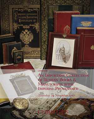 An Important Collection of Russian Books and Manuscripts wit