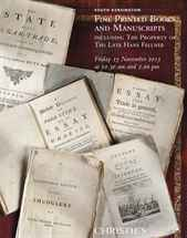 Fine Printed Books and Manuscr auction at Christies