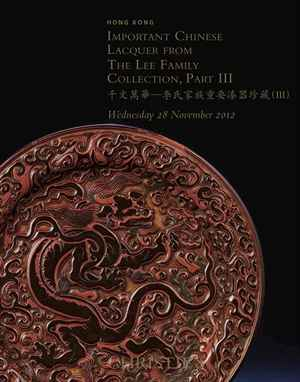 Important Chinese Lacquer from the Lee Family Collection, Pa