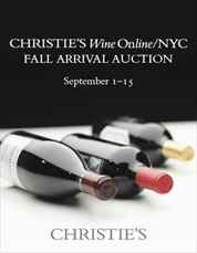 Wine OnlineNYC Fall Arrival Auction