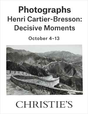 Henri Cartier-Bresson: Decisi auction at Christies