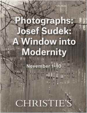 Josef Sudek: A Window into Mod auction at Christies