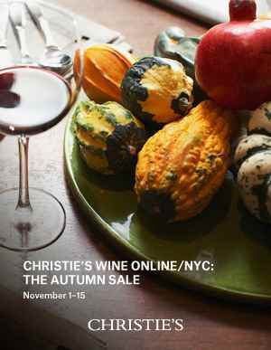 Wine Online/NYC: The Autumn Sa auction at Christies