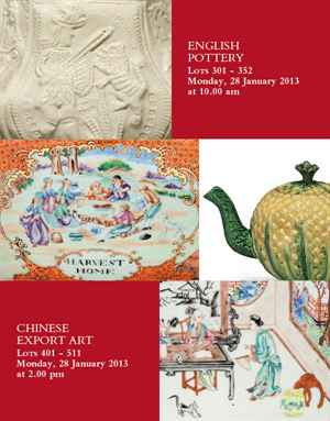 English Pottery and Chinese Ex auction at Christies