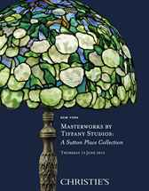 Masterworks by Tiffany Studios auction at Christies