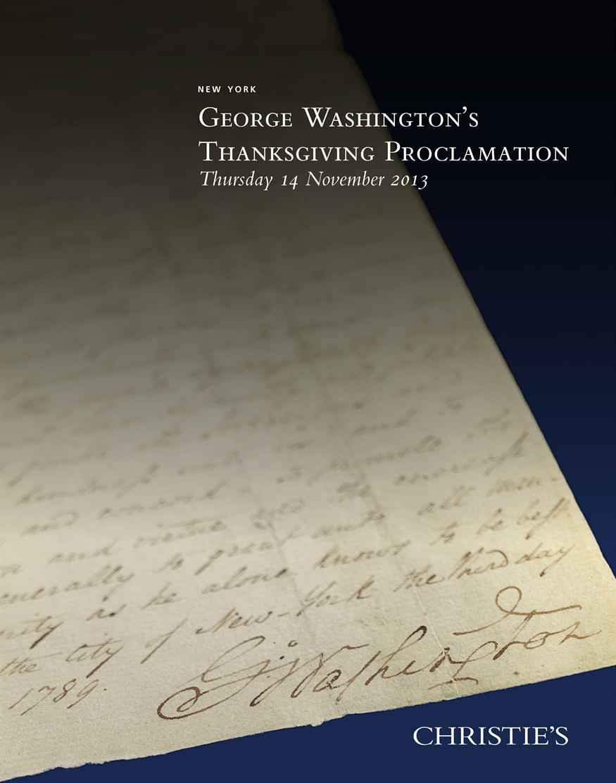 George Washingtons Thanksgiving Proclamation