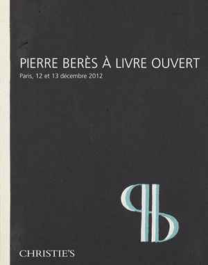 Pierre Berès à livre ouvert auction at Christies