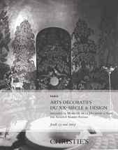 Arts Décoratifs du XXe Siècle  auction at Christies
