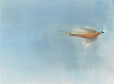 Claire Harkess (b. 1970), Three studies of pheasant in flight. 24 x 30¼ in (61 x 76.8 cm); and smaller. Estimate                    £1,200-1,800. This lot is offered in The Astor Collection from Tillypronie, Aberdeenshire Part II, 4-18 December 2017, Online
