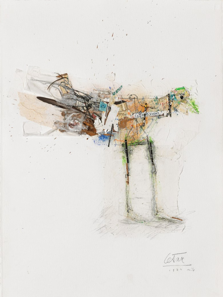 César (1921-1998), Untitled, executed in 1974. 29½ x 22½ in (75 x 57cm). Estimate                    £1,000-2,000. This lot is offered in on paper  online, 7-19 September 2017, Online