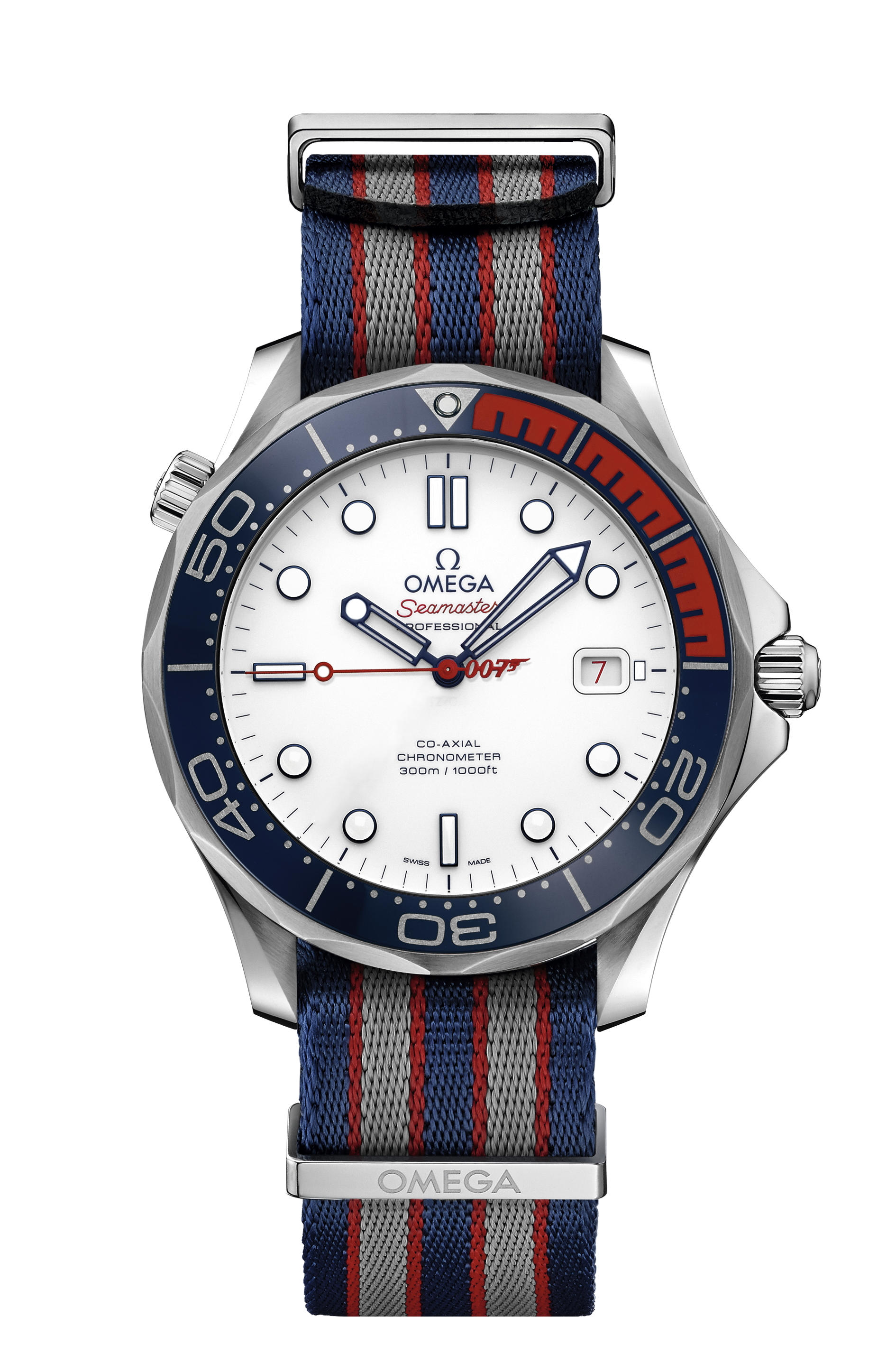 OMEGA, STEEL SEAMASTER COMMANDERS WATCH WITH UNIFORM