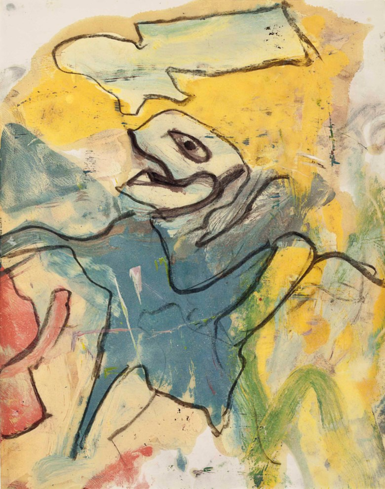 Willem de Kooning (1904-1997), Untitled, c. 1960s. Oil and charcoal on vellum. 23¾ x 18¾ in (60.3 x 47.6 cm). Estimate $30,000-40,000. This lot is offered in MANHATTA, 10-17 October 2017, Online