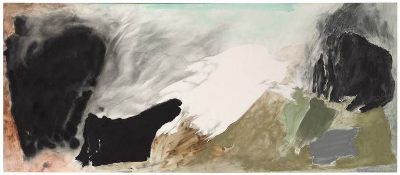 Friedel Dzubas (1915-1994), Traverse, 1983. Signed, titled and dated 'Dzubas1983 Traverse' (on the reverse). Acrylic on canvas. 50 x 116 in (127 x 294.6 cm). Estimate $20,000-30,000. This lot is offered in MANHATTA, 10-17 October 2017, Online