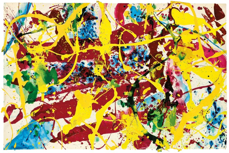Sam Francis (1923-1994), Untitled, 1991. Acrylic on paper. 19 x 28½ in (48.2 x 72.3 cm). Estimate £30,000-40,000. This lot is offered in First Open Online, 9-17 April 2018