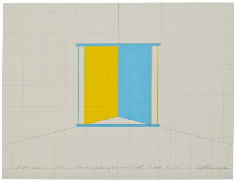 Dan Flavin (1933-1996), untitled (to Marianne) 2, 1972. Ink and coloured pencil on graph paper. 17 x 22 in (43.2 x 55.5 cm). Estimate £15,000-20,000. This lot is offered in First Open Online, 9-17 April 2018