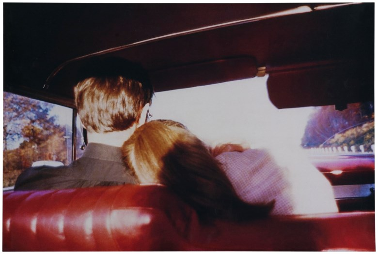 Nan Goldin (b. 1953), Kim + Mark in My Red Car, Newton, MA, executed in 1978. This work is an artist's proof number two from an edition of two plus two artist's proofs. Silver dye bleach print. 15¾ x 23½ in (40 x 59.6 cm). Estimate £2,000-4,000. This lot is offered in First Open Online, 9-17 April 2018, Online