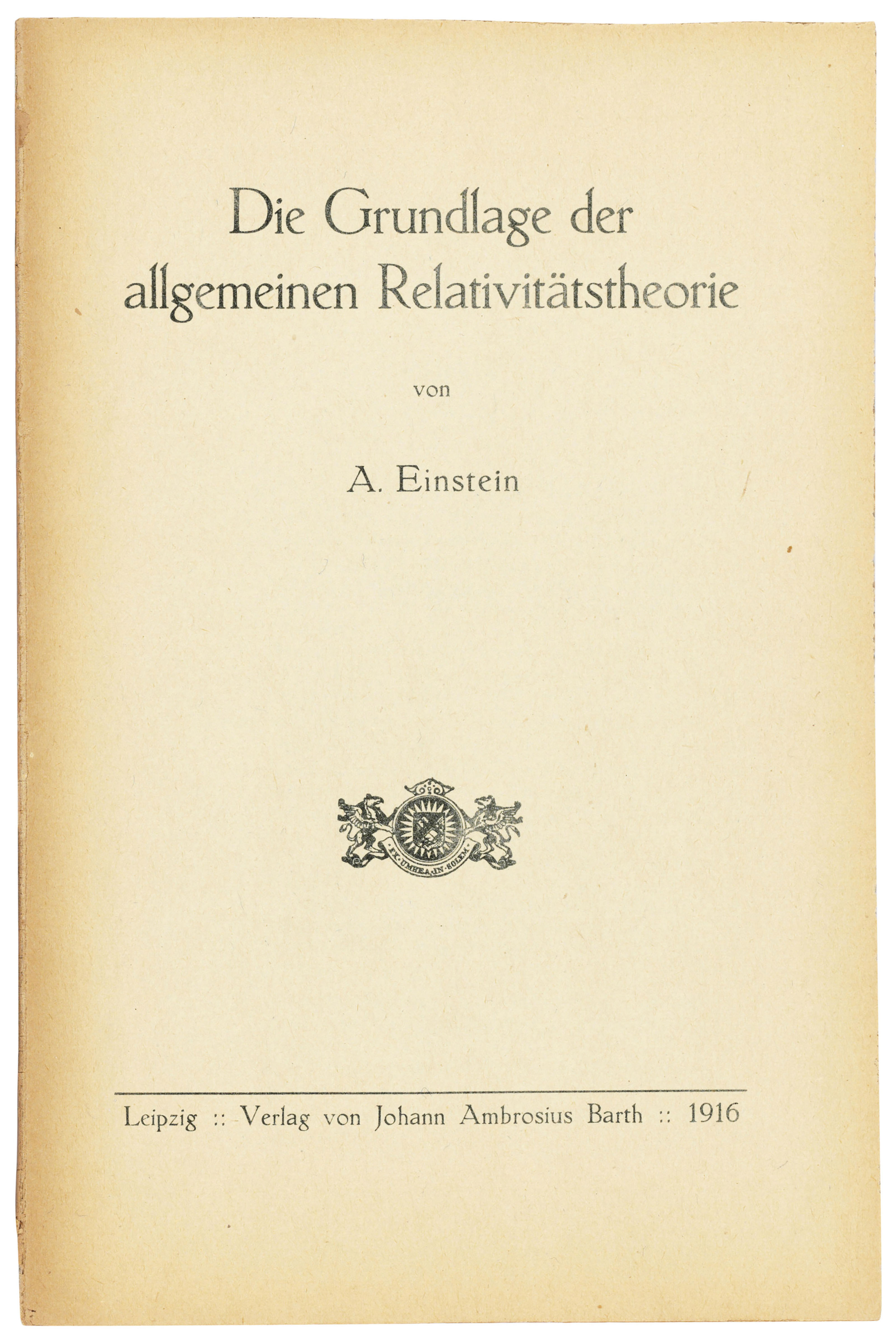 Hans Albert Einstein's copy of his father's greatest contribution to physics