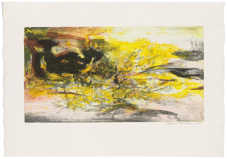 Zao Wou-Ki (1920-2013), Untitled, 1968. Estimate                    £3,000-4,000. This lot is offered in Prints & Works on Paper by Zao Wou-Ki, 15-23 March 2018, Online