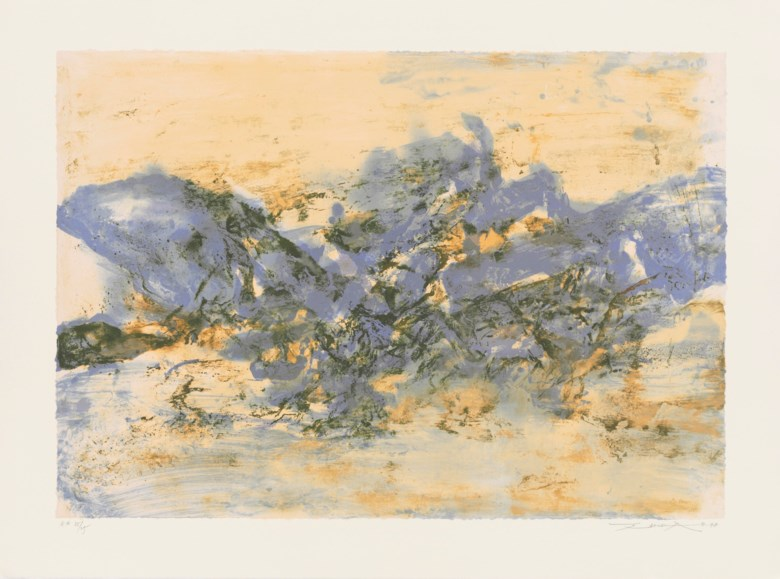 Zao Wou-Ki (1920-2013), Untitled, 1998. Estimate                    £2,200-3,000. This lot is offered in Prints & Works on Paper by Zao Wou-Ki, 15-23 March 2018, Online