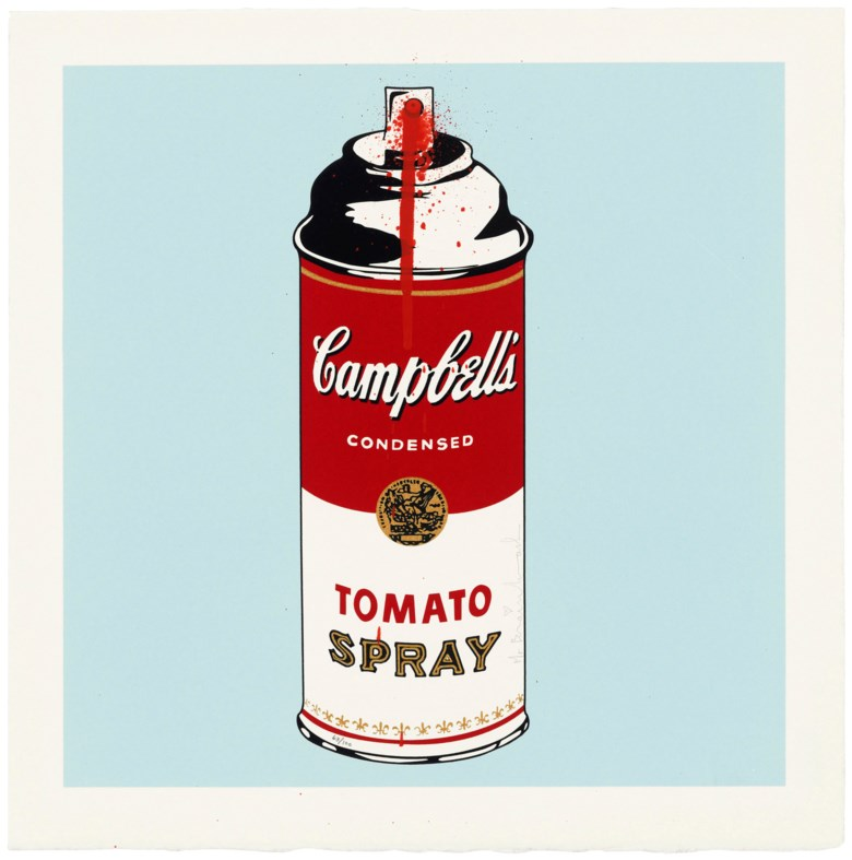 Mr. Brainwash (b. 1966), Tomato Spray. Sheet 385 x 383 mm. Estimate                    £2,500-3,500. Offered in Contemporary Edition, 14-26 September 2018, Online