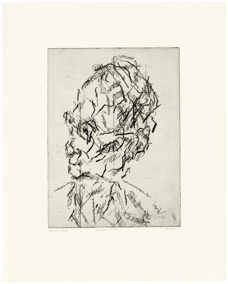 Frank Auerbach (b. 1931), William Feaver, 2007. Estimate                    £2,000-3,000. Offered in Contemporary Edition, 14-26 September 2018, Online