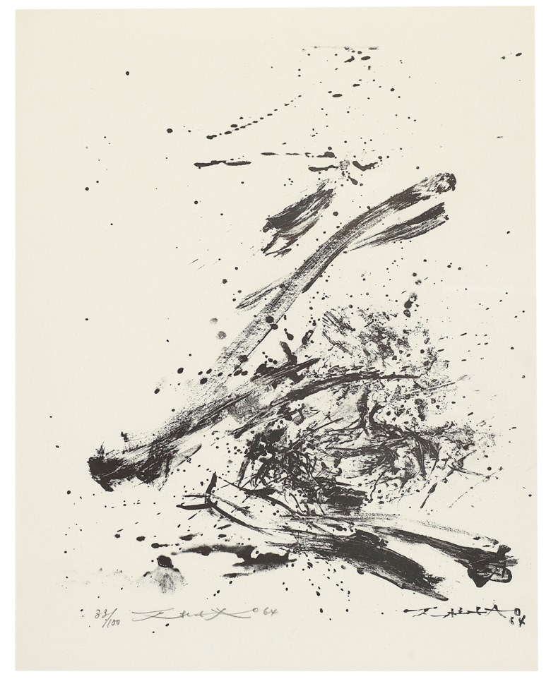 Zao Wou-Ki (1920-2013), Epitaph Karl Amadeus Hartmann, 1964. 46.8 x 36.7 cm, 18⅜ x 14½ in. Estimate HK$15,000-25,000. This lot is offered in Contemporary Art Asia Hong Kong Edition, 20-27 November 2018, Online