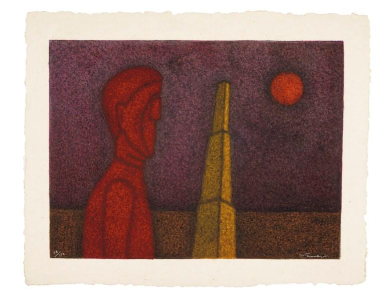 Rufino Tamayo (1899-1991), Figura en rojo. Sheet 28¼ x 35½ in (71.8 x 90.2 cm). Price Realised $4,750, 28 Nov 2018, Online