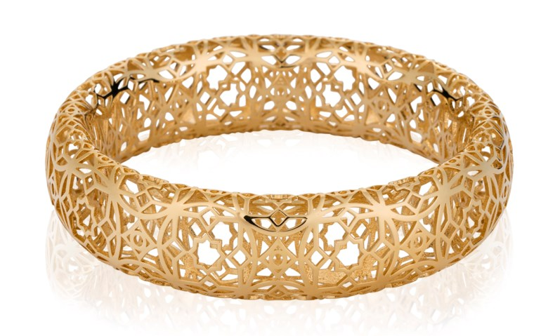 A 'Marrakesh' gold bangle by Paloma Picasso, Tiffany & Co.. Sold for $4,375 on 13 February 2018, Online