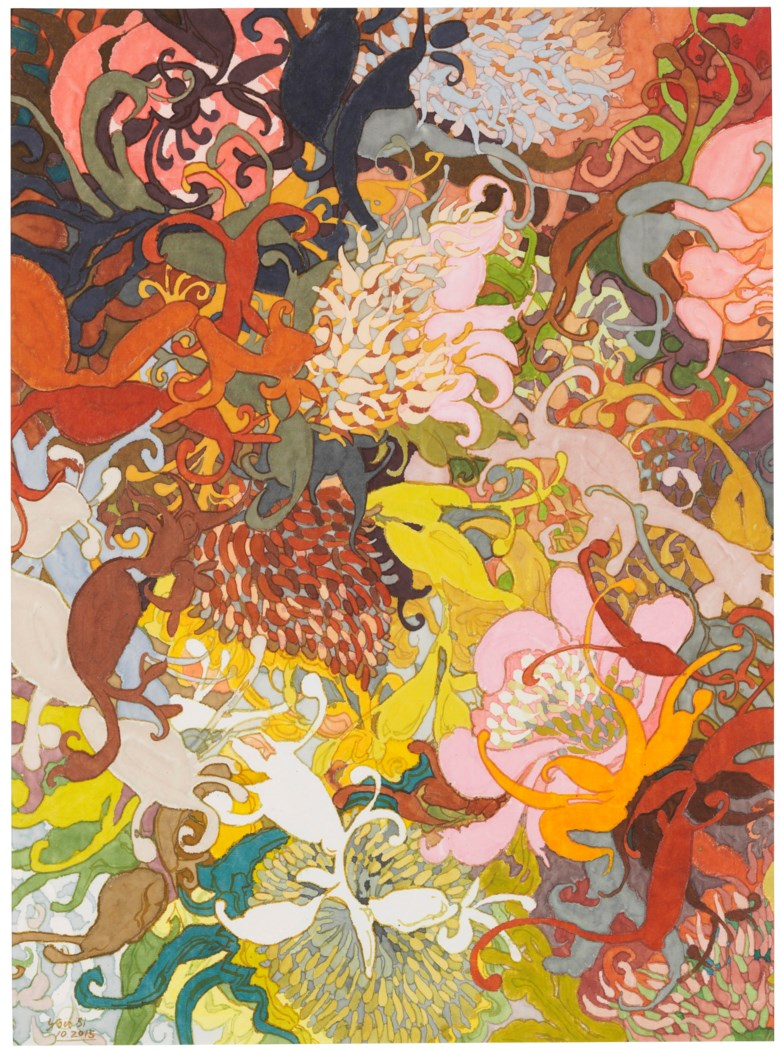You Si (China, b. 1954), Paradise Flower, painted in 2015. 61.5 x 45.4 cm (24¼ x 17⅞ in). Estimate                    $3,500-5,500. Offered in Contemporary Art Asia New York Edition, 22-30 May 2018, Online